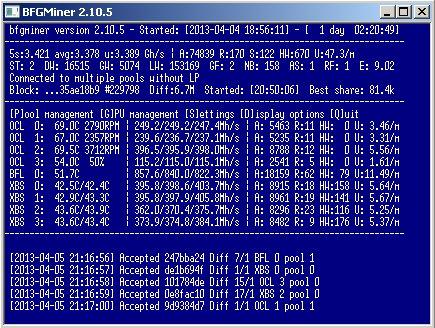 bfgminer - بهترین نرم افزارهای استخراج بیت کوین