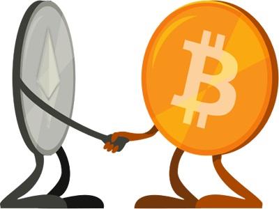 bitcoin and ethereum sitting on a tree@2x - روش های تبدیل بیتکوین به اتریوم