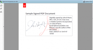 visible digital signature