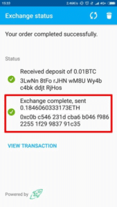 coinomi exchanges staus