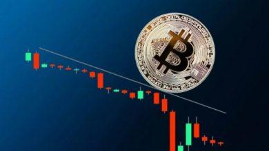 تصویر از ریزش شدید قیمت بیت کوین