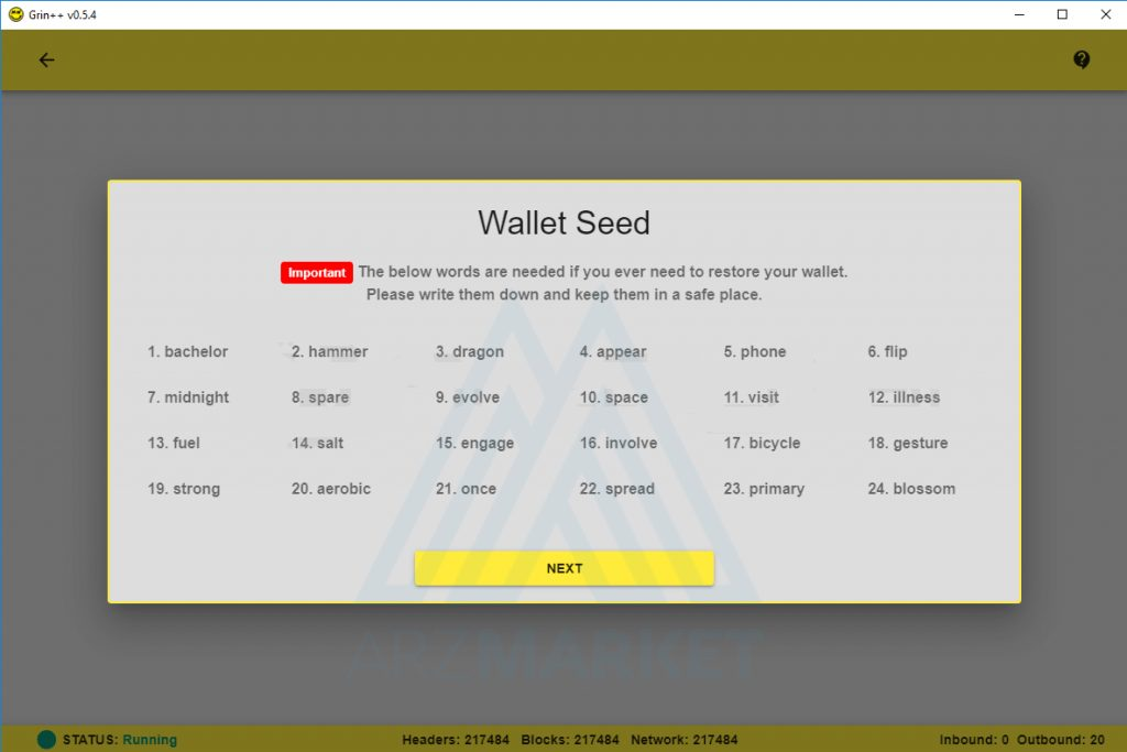 wallet seed
