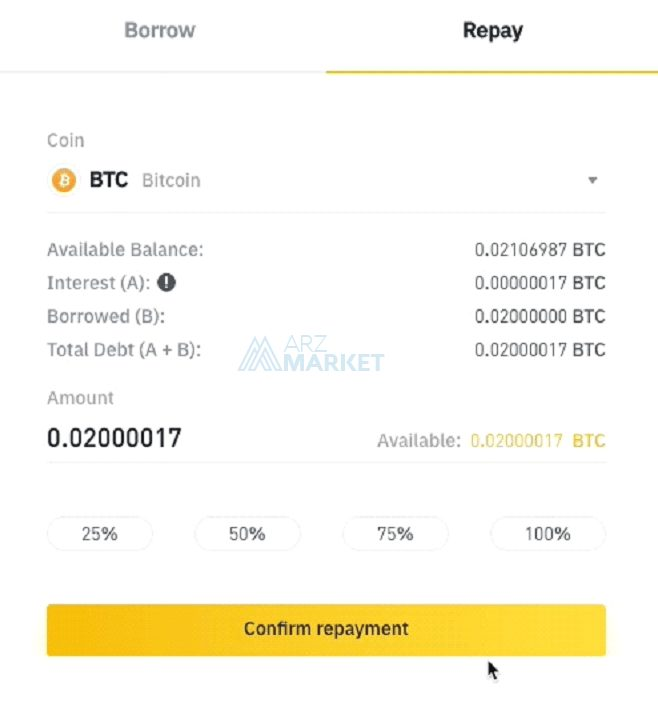 binance-margin-repay