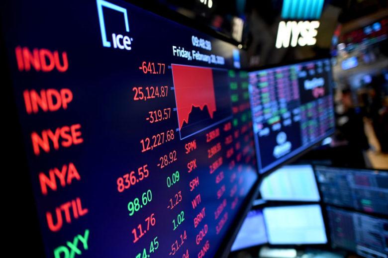 stock market billboard