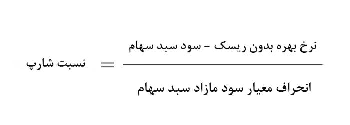 فرمول محاسبه نسبت شارپ