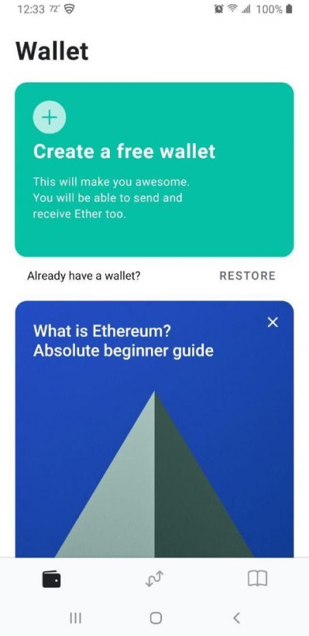 create a wallet